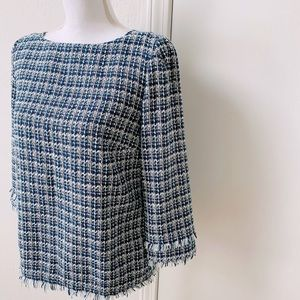 Ann Taylor Tweed Blouse